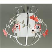 Chouette suspension corail