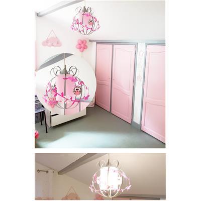 lustre chambre fille deco rose
